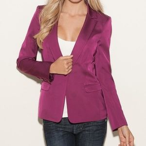 GUESS Purple Satin Blazer